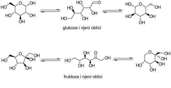 monosaharidi glukoza i fruktoza